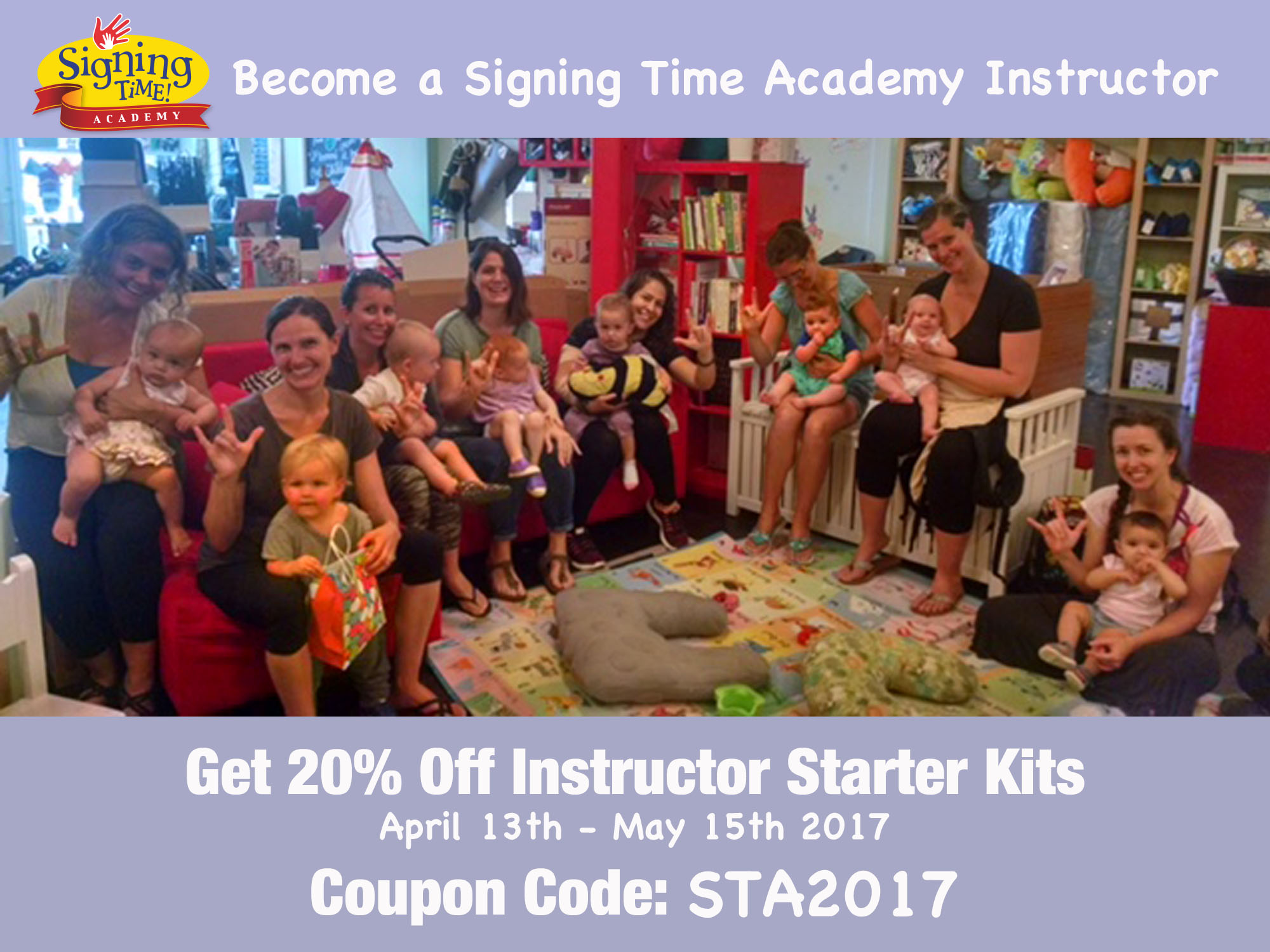 Save 20% on Signing Time Academy Instructor Starter Kits
